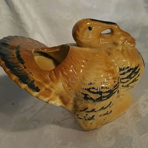 Morton Pottery Accents - Vintage Morton Pottery Tom Turkey Planter